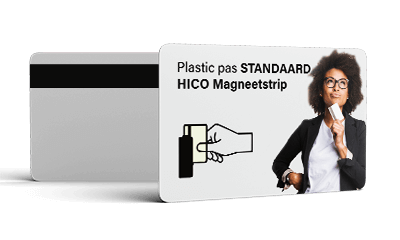 Plastic pas Hico magneetstrip